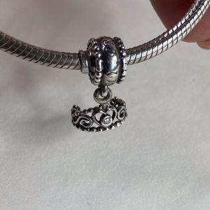 Pandora Sterling Silver Princess Crown Charm